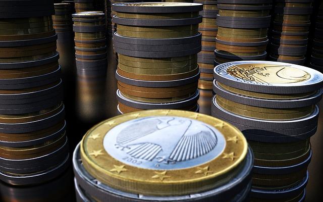 Euro Münzen zum Preis bezahlen